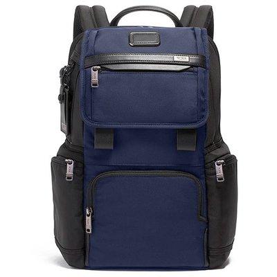 正品新款原廠 TUMI/途米 JK454 男女款休閒商務電腦後背包  時尚雙肩背包 健身運動旅行背包 彈導尼龍配真皮
