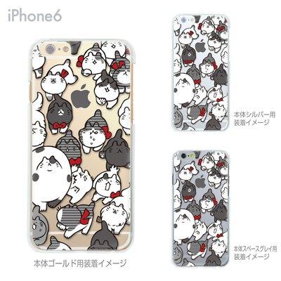 日本製【灰色滿版小貓胖胖貓咪/彩繪透明殼/軟殼tpu】iphone6+plus手機殼手機套可愛背蓋似迪士尼5s
