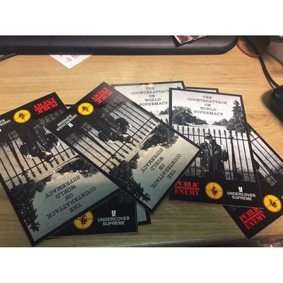 Supreme x Undercover x Public Enemy 白宮 White House 貼紙Sticker