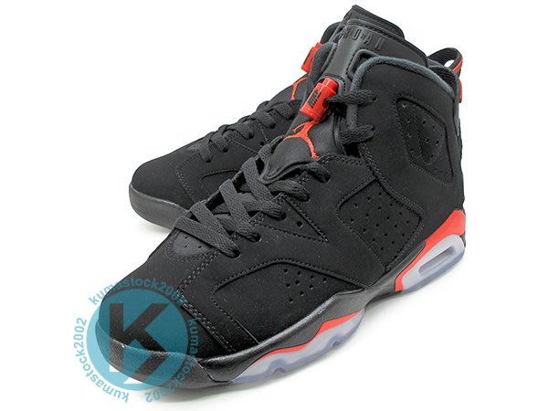 NIKE AIR JORDAN 6 RETRO BG BLACK INFRARED 女鞋 黑紅 384665-060