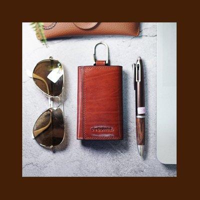 MARU`S BAGS SHOP獨家自有品牌Maroon 馬鞍皮鑰匙包[N-568]購滿299免運