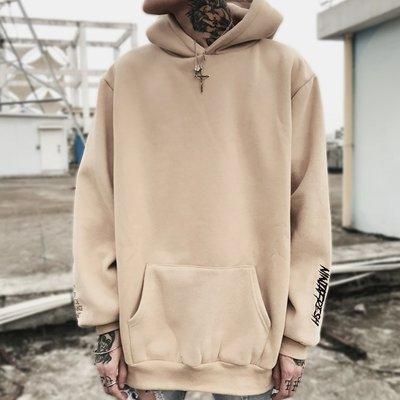 【Result】NFG 17AW 刺繡杏色 Hoodie 帽TEE Hiphop
