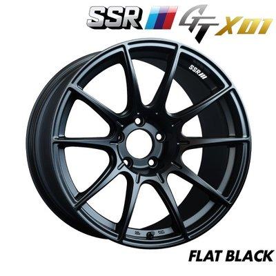日本 SSR 鋁圈 GTX01 黑色 15吋 16吋 17吋 100 114 四孔 五孔 4/100 5/114.3