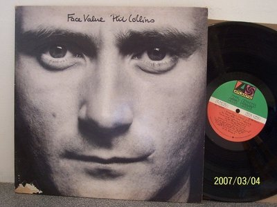 【原版流行LP】146.Phil Collins:Face value,No jacket required專輯,2LPs
