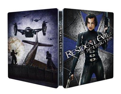 毛毛小舖--藍光BD 惡靈古堡5 天譴日 限量鐵盒版Resident Evil