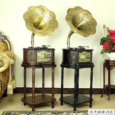 〖生活館〗F809留聲機 大喇叭老式黑膠唱機 仿古唱片收音 CDMP3復古電唱機【馬大叔雜貨店】