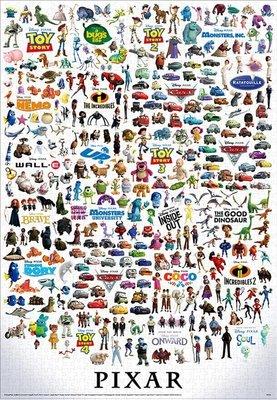 缺 日本進口拼圖 迪士尼 皮克斯 角色大集合 2000片拼圖,2000-627
