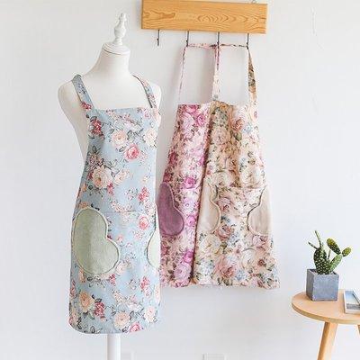 廚房日用 可批發韓版時尚女士圍裙家用廚房防水防油薄款夏季工作可愛日系公主裙子