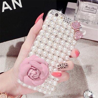 【小宇宙】HTC Desire 820/ S 728 826 626 816 珍珠蝴蝶結花朵貼鑽手機殼 水鑽 透明殼 台北市
