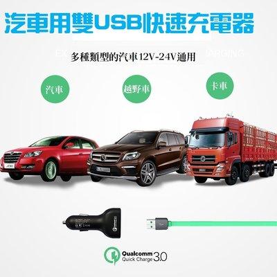 快充高通 QC3.0雙USB車充智能快速充電電瓶電壓監測和充電電流電壓顯示可充市售各類智慧手機平板