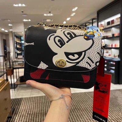 COACH 4722 米奇斜跨包 Disney Mickey 聯名款 超可愛 潮流時尚 多種背法