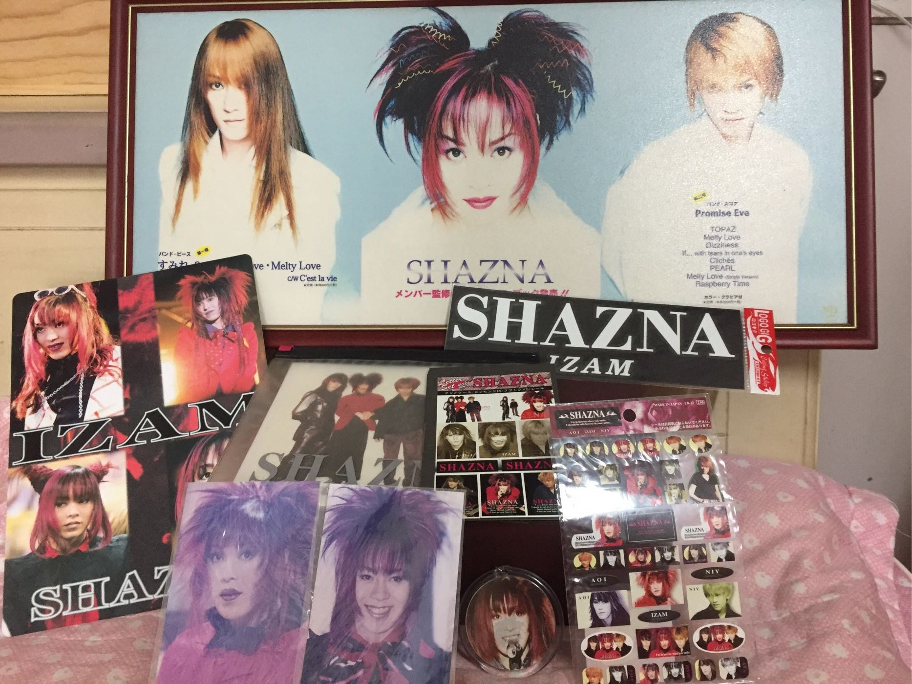 SHAZNA、IZAM 視覺系樂團 周邊商品