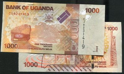 【紙幣】UGANDA (烏干達), P49c ,1000 Shillings ,2015 , 品相全新UNC
