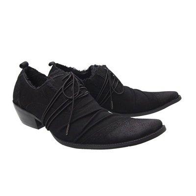個性時裝男皮鞋 新款英倫尖頭高跟男鞋英倫潮流增高男鞋韓版商務休閑男鞋美發師鞋