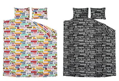 Supreme HYSTERIC GLAMOUR Text Duvet Pillow Set 床單 被套 枕套 四件套