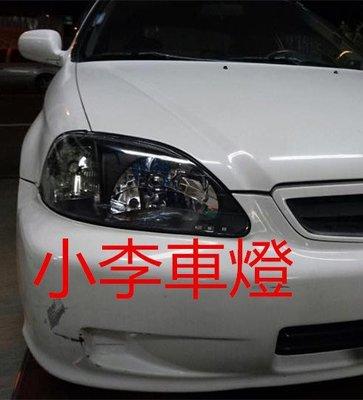 ~李A車燈~全新 外銷 喜美 CIVIC K8 96 00年 改裝型燻黑大燈組 一組1800 台灣製品