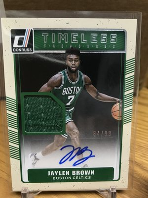 Jaylen Brown donruss 球衣簽 auto 限99 非 Lebron Kawhi Tatum Jokic