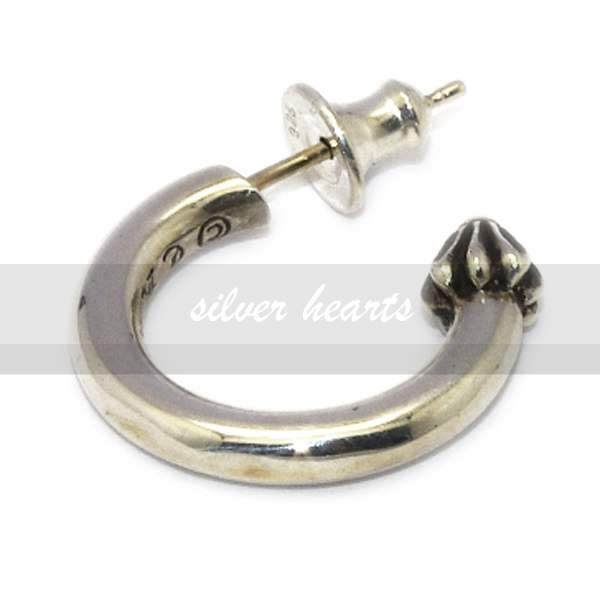 【SILVER HEARTS】Goro's Chrome Hearts 克羅心 Hoop Plain 純銀耳釘 耳環