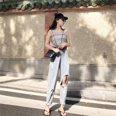 吊帶褲子套裝個性女時尚兩件套社會韓版洋氣時尚性感氣質蹦迪