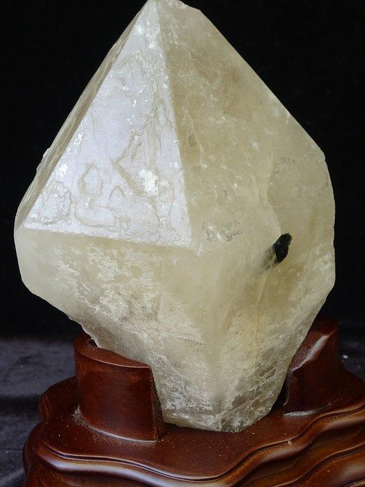 ~shalin-crystal~巴西黃水晶骨幹~1.34公斤~帶碧璽~晶質清透~質地超優~值得收藏!