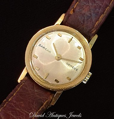 ((天堂鳥)) 新品刊登 高級錶界經典優雅SARCAR GENEVE 豪門世家18K手上鍊女錶