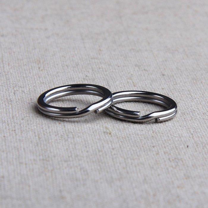 小花精品店-304不銹鋼鑰匙圈1.8/2.0/2.2線粗 雙圈鑰匙環掛環掛扣鑰匙扣吊環