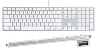 中文版注音版 蘋果APPLE A1243/ MB110LLA USB有線鍵盤 數字小鍵盤 超薄 超好按 簡易包裝 9成新 台北市