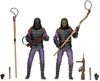 金錢貓雜貨 全新 NECA PLANET OF THE APES 猩球崛起 SOLDIER SET 猩猩士兵