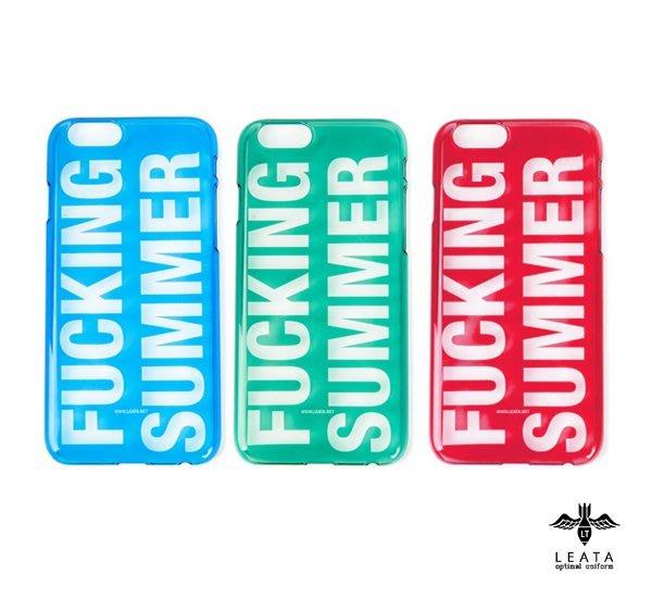 GOODFORIT / 韓國LEATA Fucking Summer Clear iPhone 6半透明保護殼/紅、藍