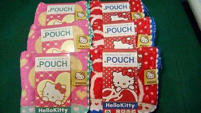 POUCH  Hello Kitty 毛巾布  水壺袋 多用途  只剩左邊粉色的kitty 日本帶回