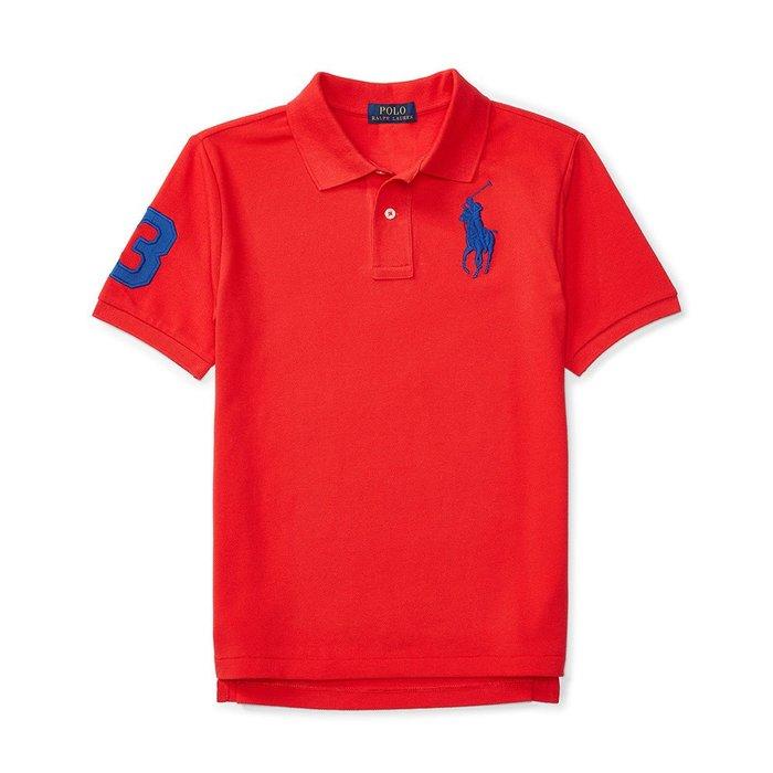 美國百分百【Ralph Lauren】Polo 衫 RL 短袖 網眼 上衣 寶藍大馬 男款 XS S號 冠軍紅 B003
