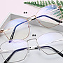 韓 小姐姐系 多邊設計造型平光眼鏡 簡約文青...