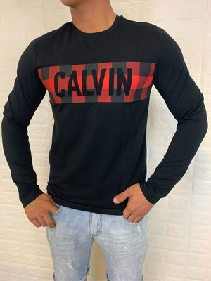 Calvin Klein 男款 簡單大方 舒適 棉質 休閒 百搭 長袖上衣 t恤