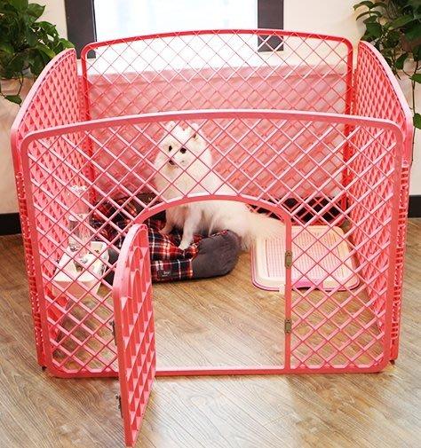 狗狗圍欄小狗泰迪護欄中大小型犬貴賓寵物柵欄用品摺疊可拆多片組合