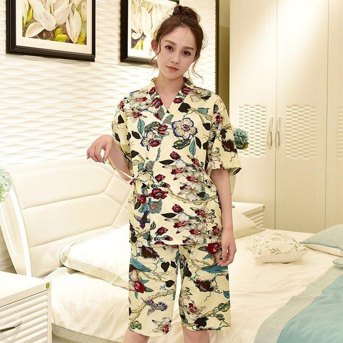 纯棉双層開衫繫带和服 美容沙龍和服 養生館和服按摩服 SPA衣
