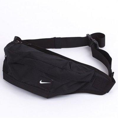 【吉米.TW】NIKE HOOD WAISTPACK SWOOSH BAG 黑 基本款 腰包 斜背包 側背包 肩背