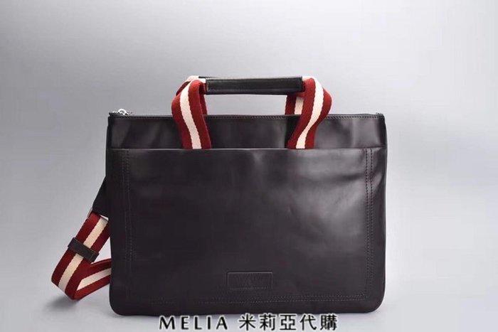 Melia 米莉亞代購 bally 貝利 2108新款 春季新品 男士款 真皮 公事包 手提包 可放15吋筆電 咖啡色