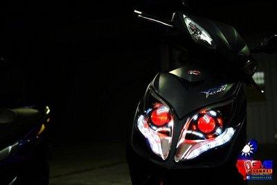 KYMCO RACING KING 雷霆王 遠近魚眼HID大燈模組改裝 LED 光圈 天使眼 惡魔眼 H1 電鍍飾圈