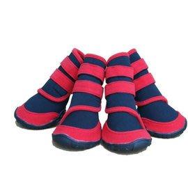 潛水布寵物雨鞋/防滑防水大型犬狗鞋子有S\M號可選-7901001