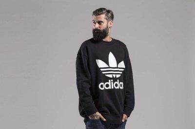 GOSPEL【Adidas Originals 】三葉草 落肩 寬版 大學T CW1236