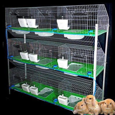 熱賣折扣 兔籠兔籠養殖籠加密加粗兔子籠子養兔子的籠子9位免清糞熱鍍鋅種兔籠