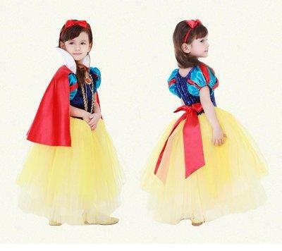 兒童萬圣節圣誕節服裝衣服白雪公主裙子禮服表演服 LQ1584