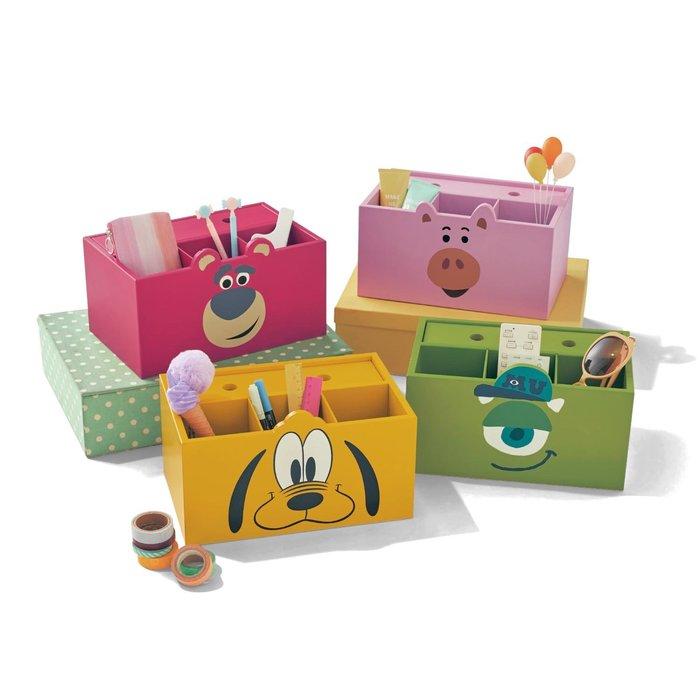 迪士尼Disney《預購》米奇米妮唐老鴨維尼奇奇熊抱哥火腿豬大眼仔~多功能收納盒+面紙盒~日本製~共8款~心心小舖