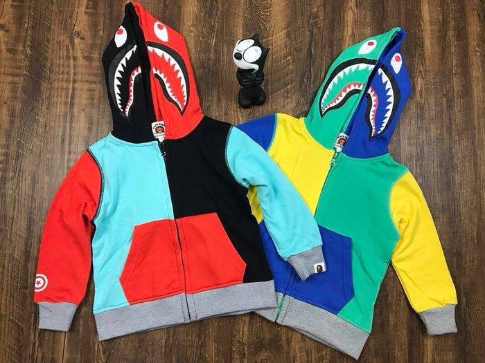 預購童裝 - 2018秋季新款 - 日潮牌baby milo鯊魚系列彩色拼接外套