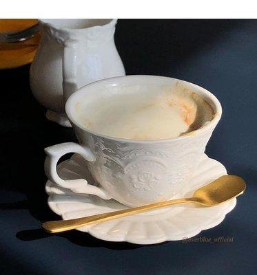 everblue 復古英式下午茶杯碟 單品咖啡杯碟 復古雕花200ml
