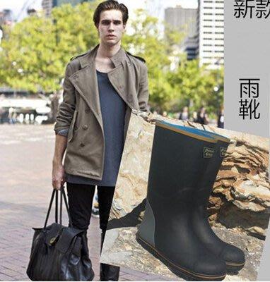 外貿出口耐穿防滑防砸鋼頭鋼底男雨鞋雨靴套鞋 優質橡膠 輕便超軟