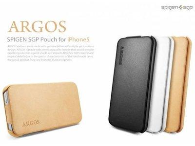 『手機 OUTLET』 SGP iPhone 5 Argos 掀蓋式經典 真皮皮套  (二色 現貨) 正品 出清特賣
