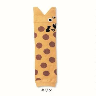 HM嬰幼館【W015】 純棉日本兒童襪套 護腿2016最新兒童寶寶魚嘴卡通護膝襪套爬行套 黃色花豹