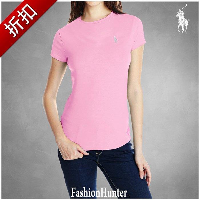 折扣【FH.cc】Polo Ralph Lauren 圓領短袖T恤 刺繡小馬Logo 女童款 腰身 淺粉紅 A&F