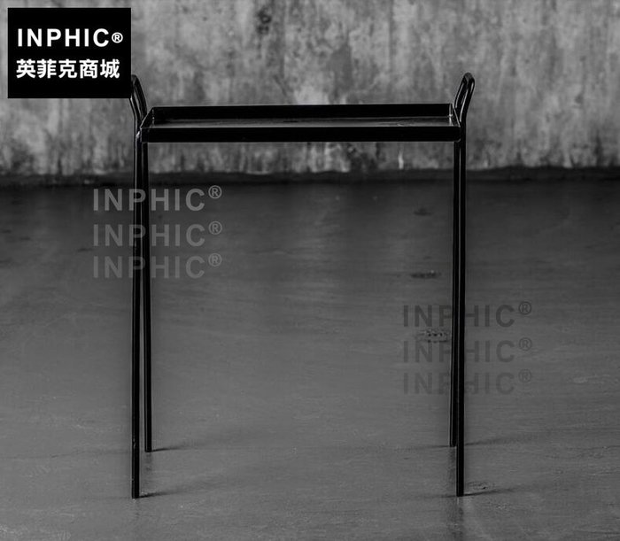INPHIC-北歐金屬簡約個性茶几 黑/藍 美法式鄉村工業風沙發椅鐵藝邊几-A款_S1910C